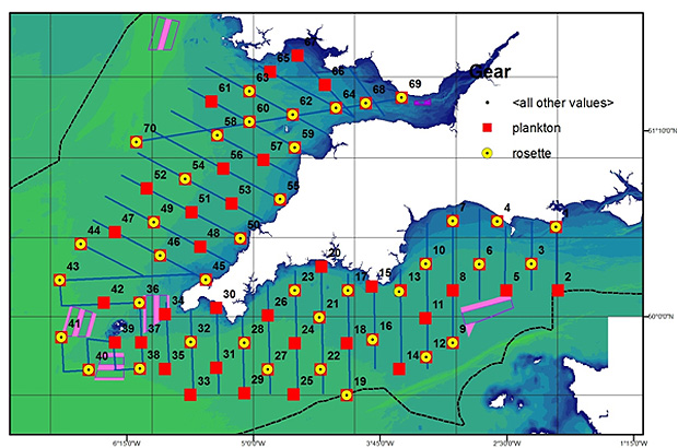 Example map of the sample points for the survey