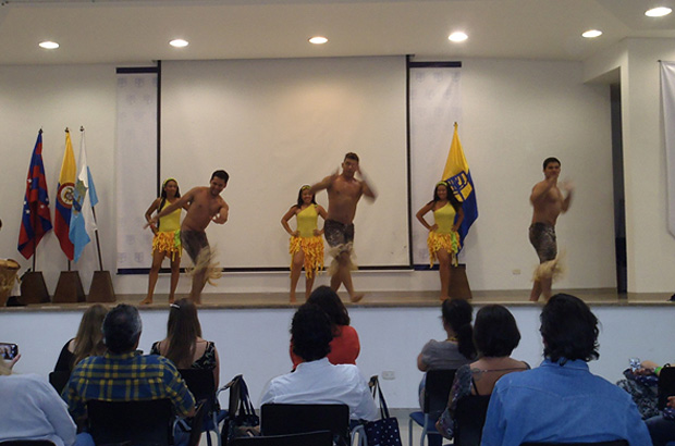 Colombian dancing at the university
