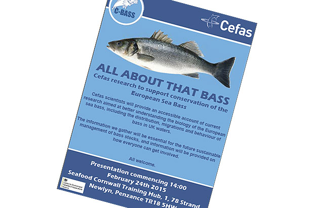 Poster advertising the C-Bass meeting in Newlyn