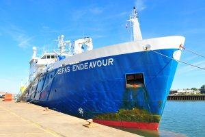 RV Cefas Endeavour in port