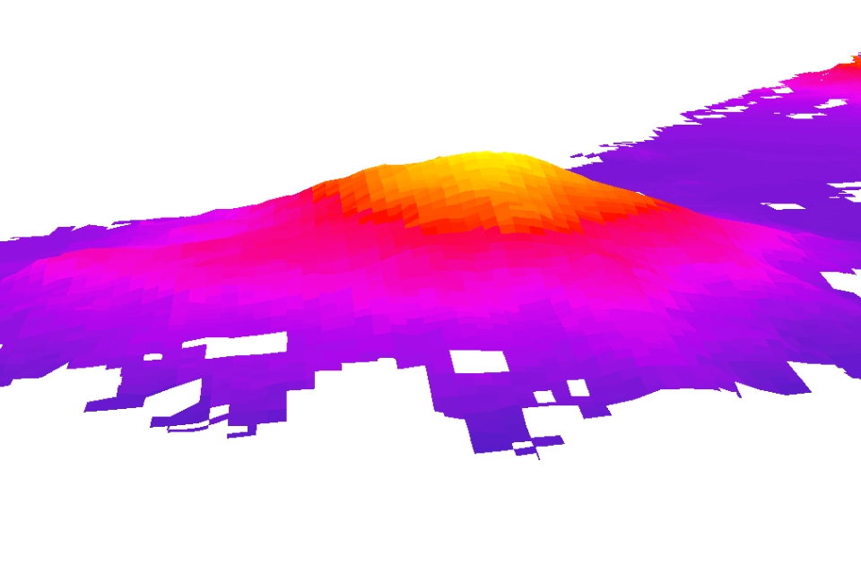 computer generated image of mountain