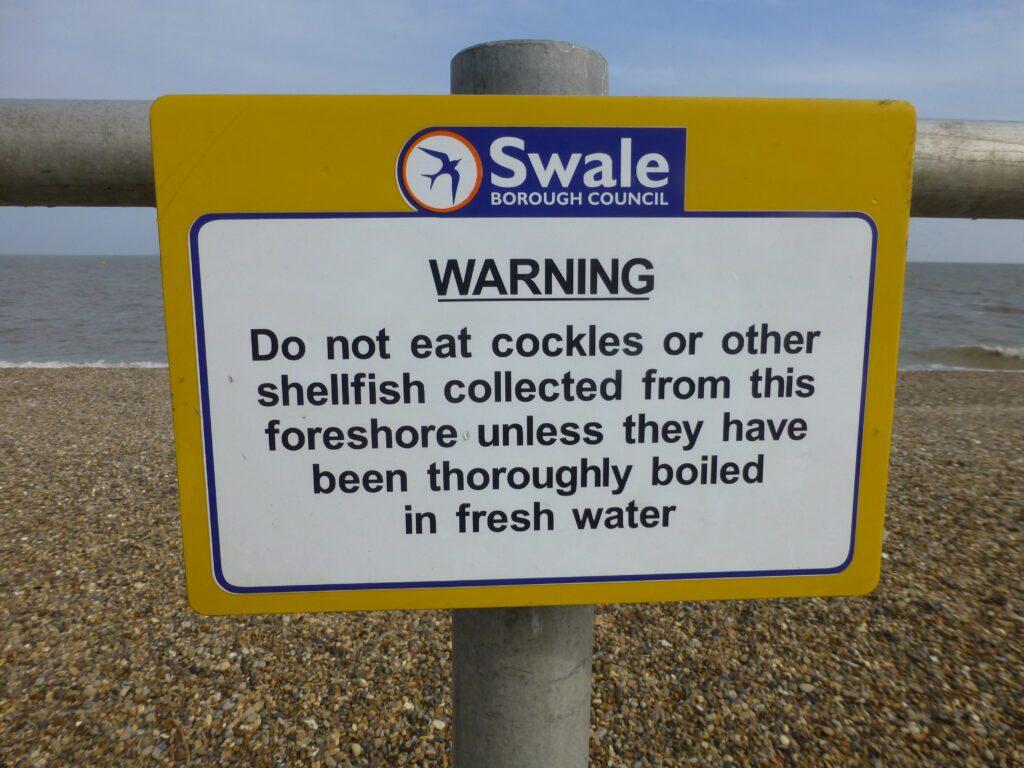 public health notice to say Do Not Eat the Shellfish