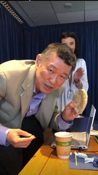 Prof. Mitsuaki Nishibuchi at the Cefas lab
